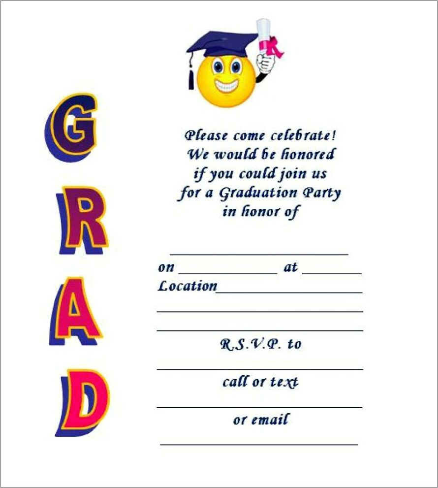 Graduation Invitation Template Free Word