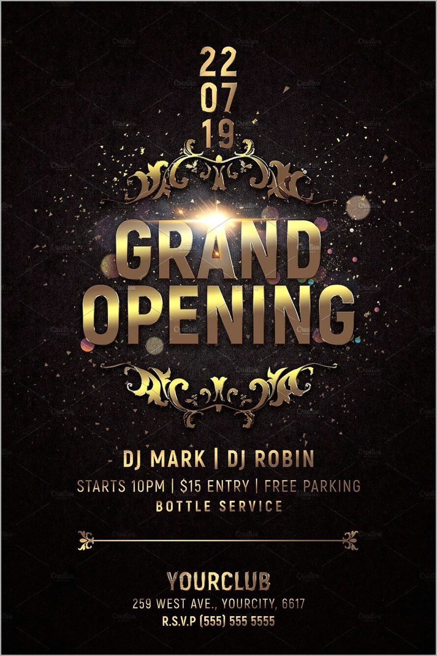 Grand Opening Flyer Templates Free