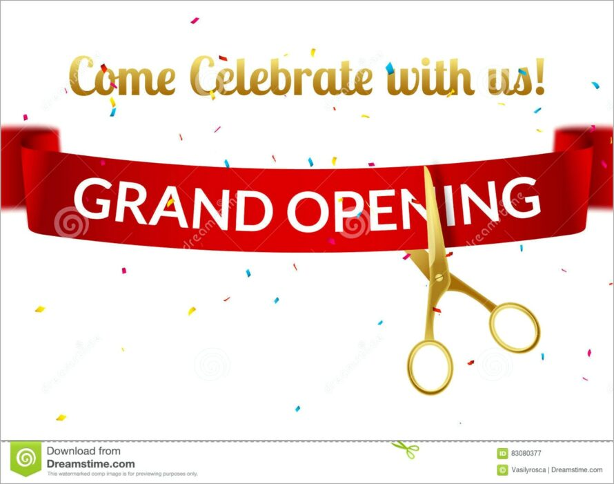 Grand Opening Invitation Card Design Online