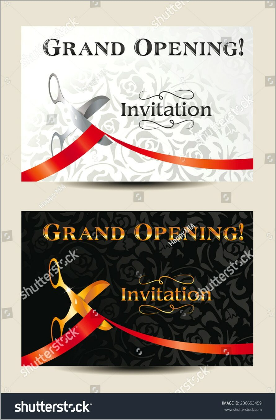 Grand Opening Invitation Cards