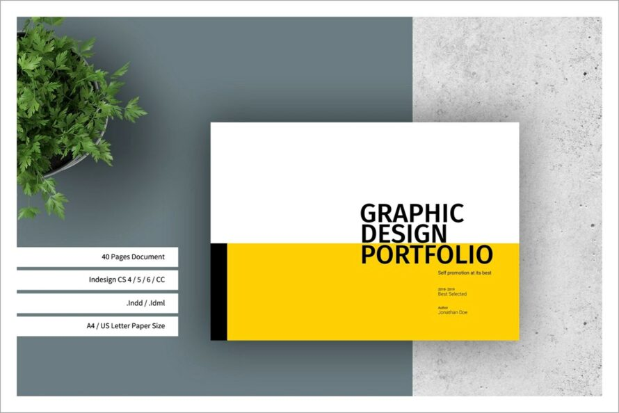 Graphic Design Portfolio Template Indesign