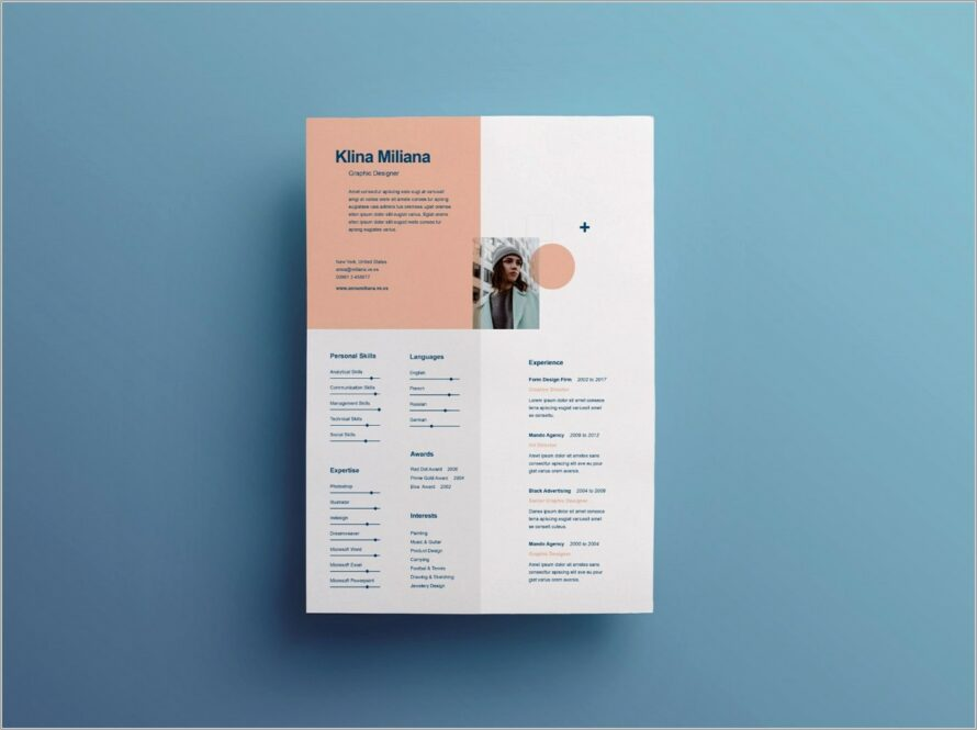 Graphic Design Resume Template Microsoft Word Download