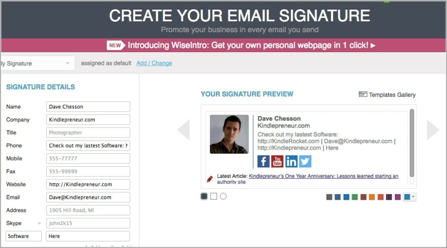 Great Email Signature Templates