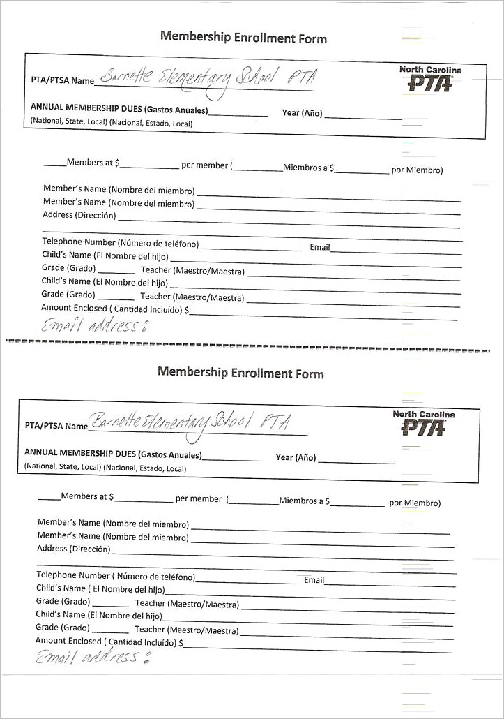 Gym Membership Form Template