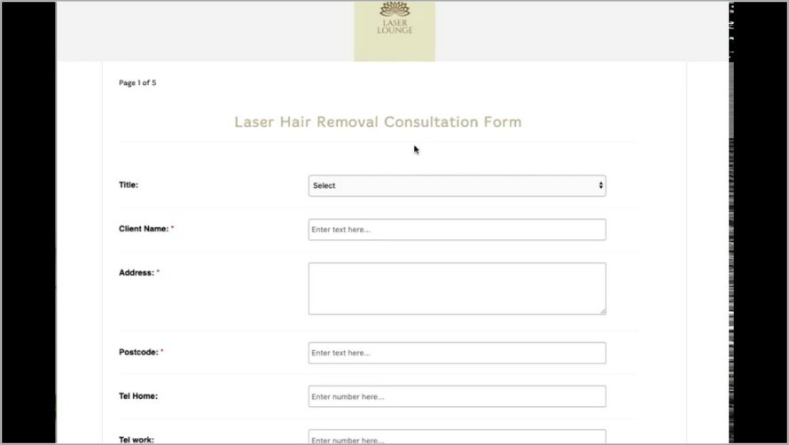 Hair Consultation Form Template