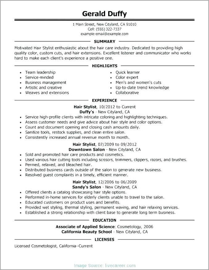 Hair Salon Business Plan Template Doc