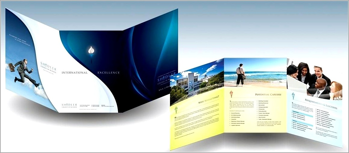 Half Fold Brochure Template For Pages