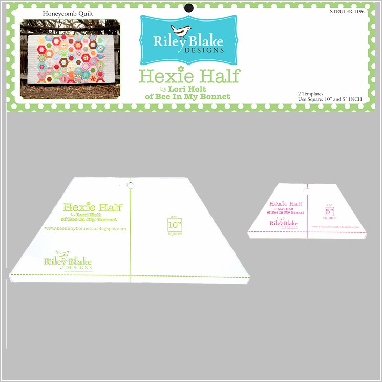 Half Hexagon Templates For Quilting