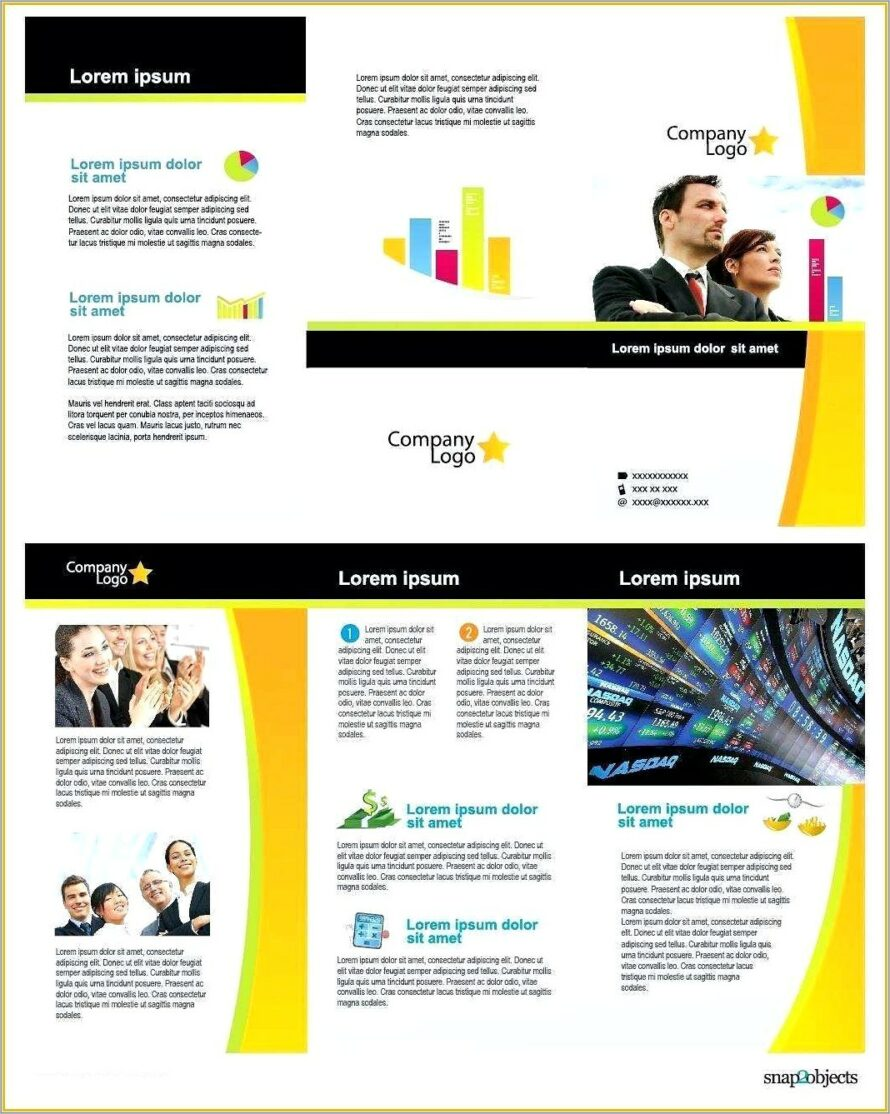 Half Page Brochure Template Word