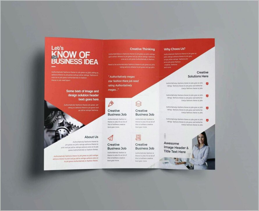 Half Page Business Flyer Template