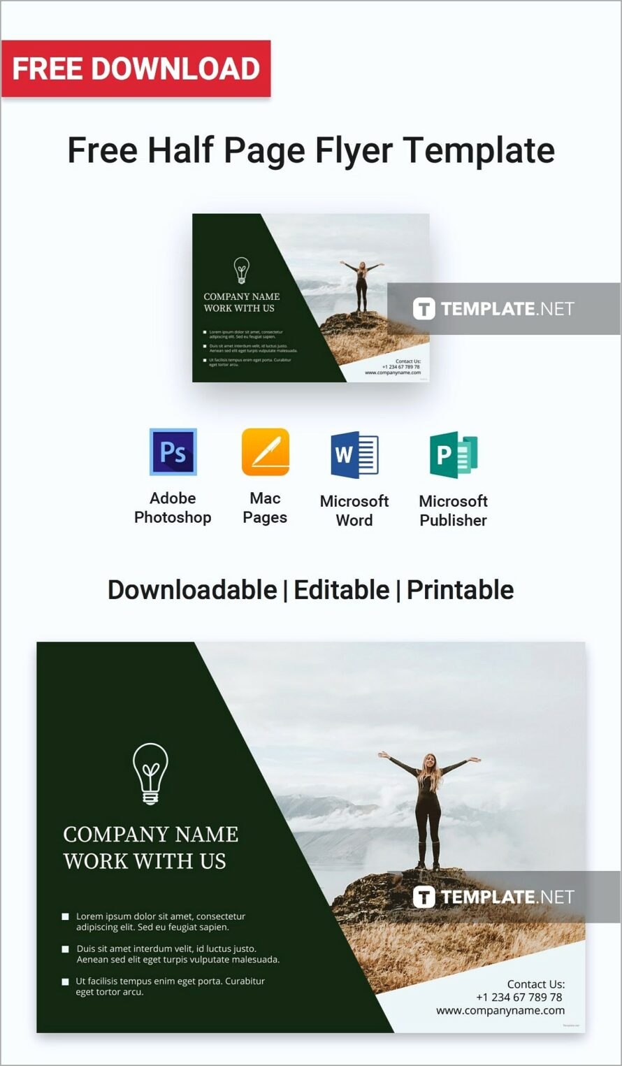 Half Page Flyer Template Indesign