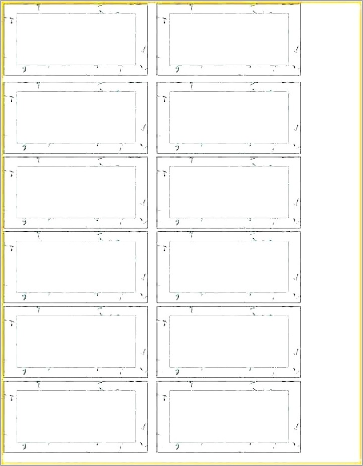 Hanging File Folder Tab Insert Template