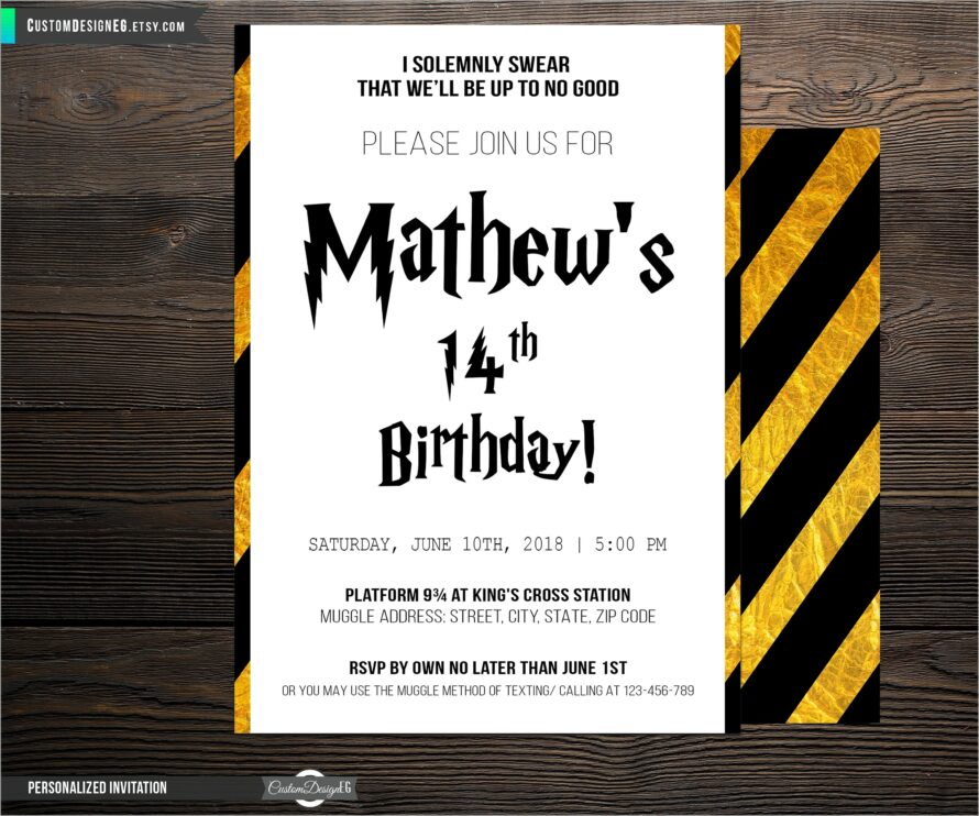 Harry Potter Invitation Template Download