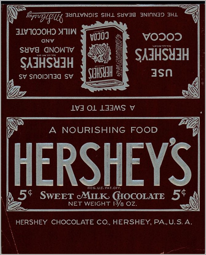 Hershey Almond Candy Wrapper Template