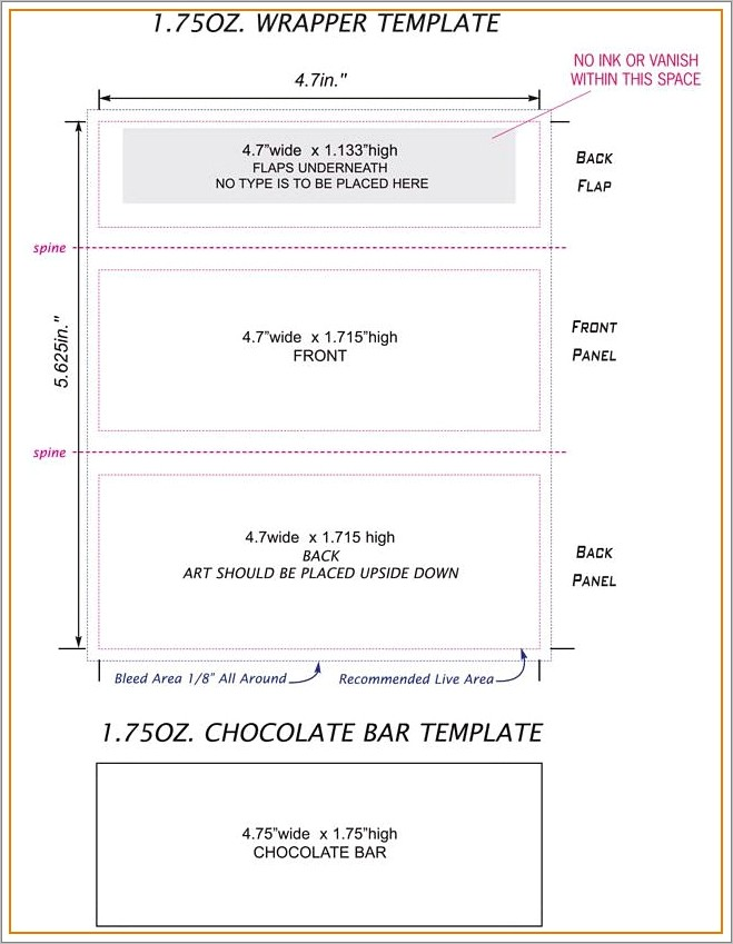 Hershey Bar Wrapper Template Thank You