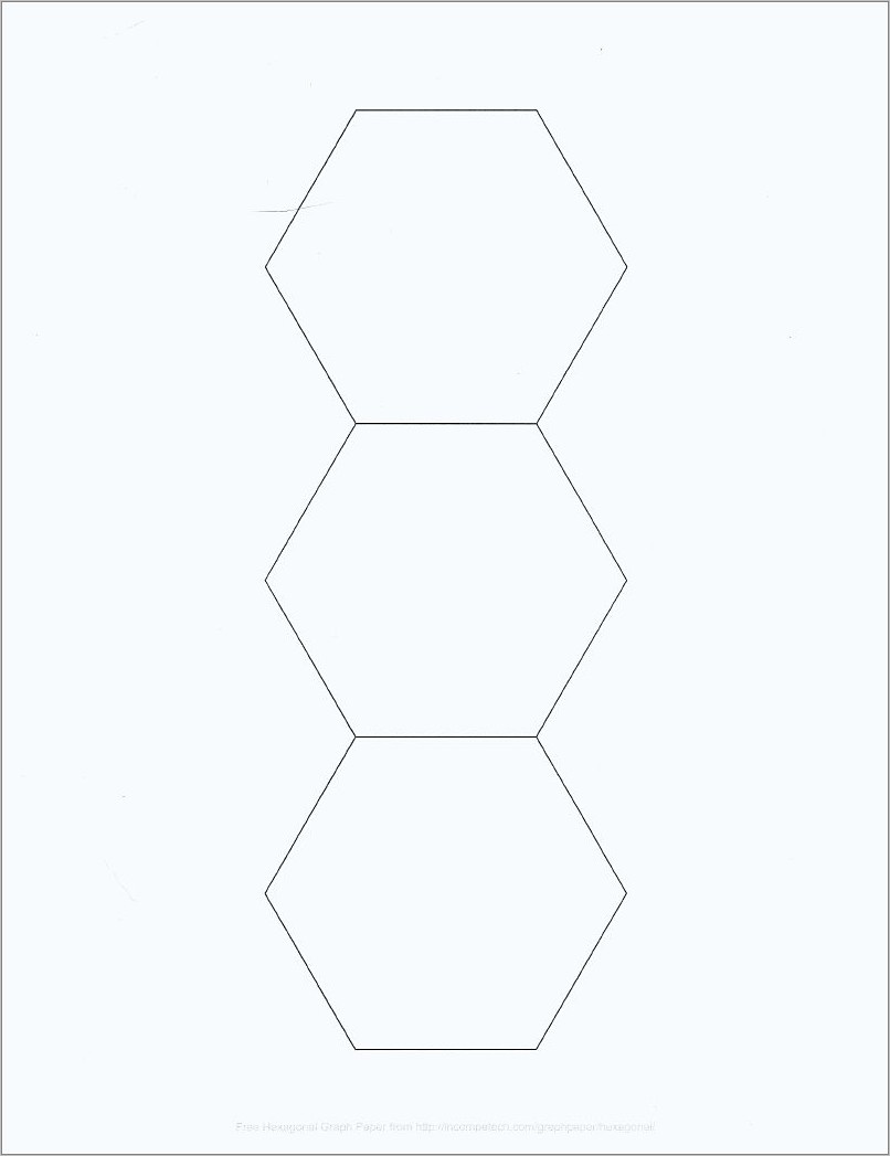 Hexagon Templates For Quilting Free