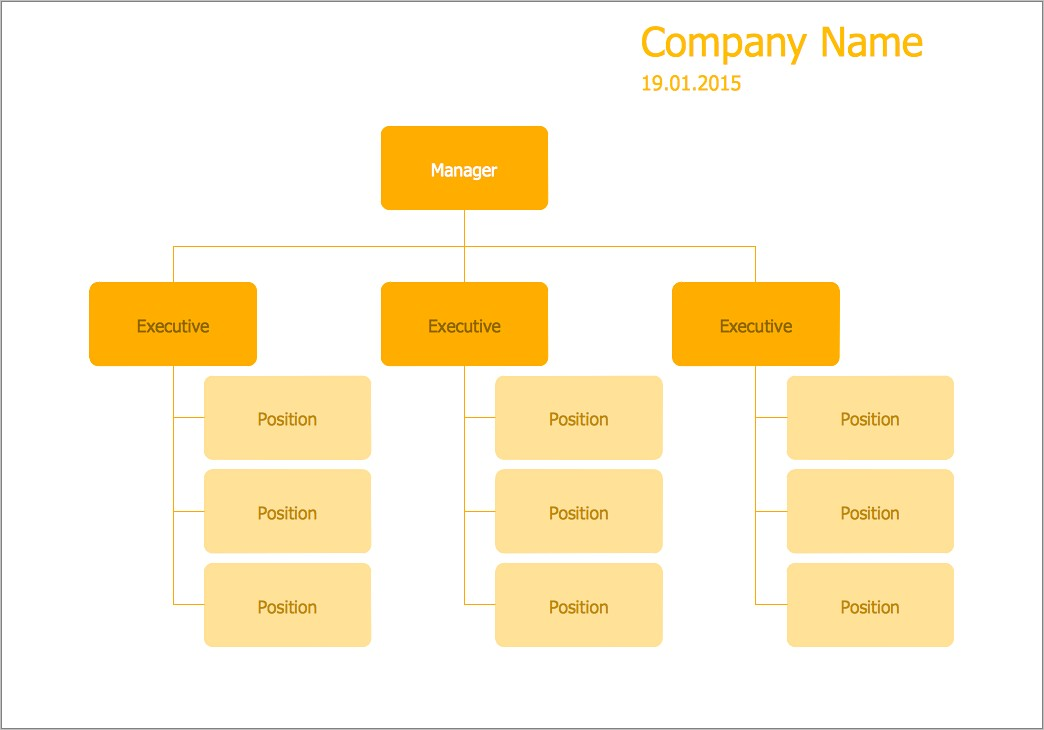 Hierarchical Organizational Structure Template