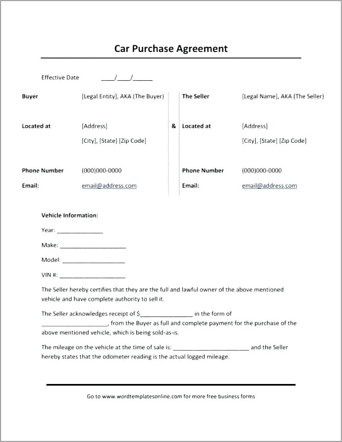 Hire Agreement Template Nz