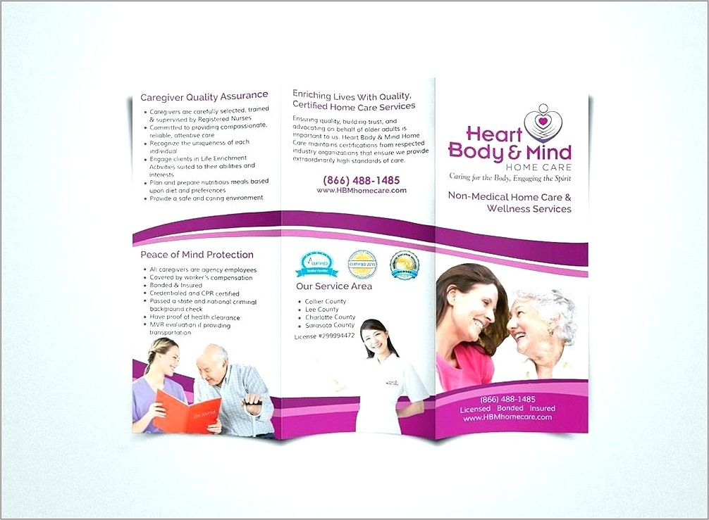 Home Care Brochures Templates