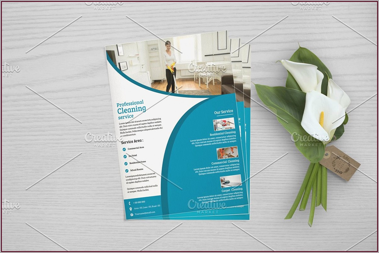 Home Cleaning Services Flyer Template
