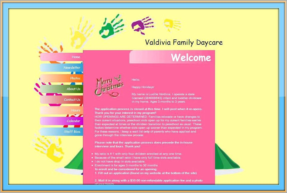 Home Daycare Newsletter Templates