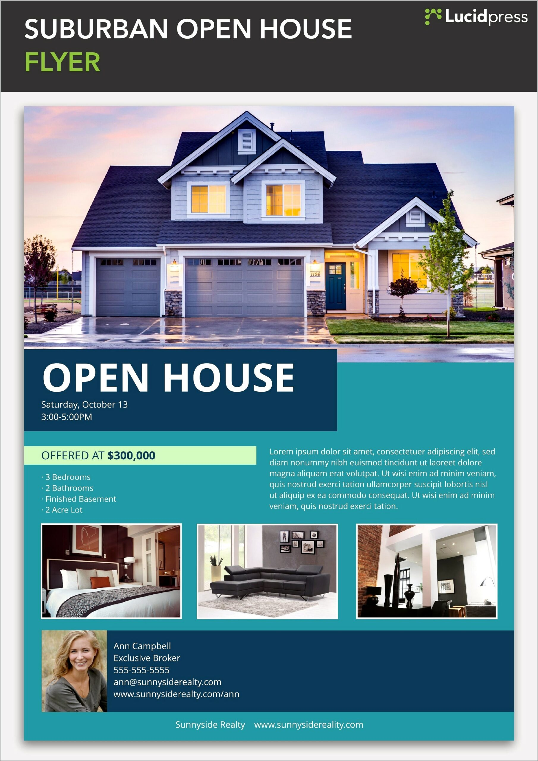 Home For Sale Flyer Template Free