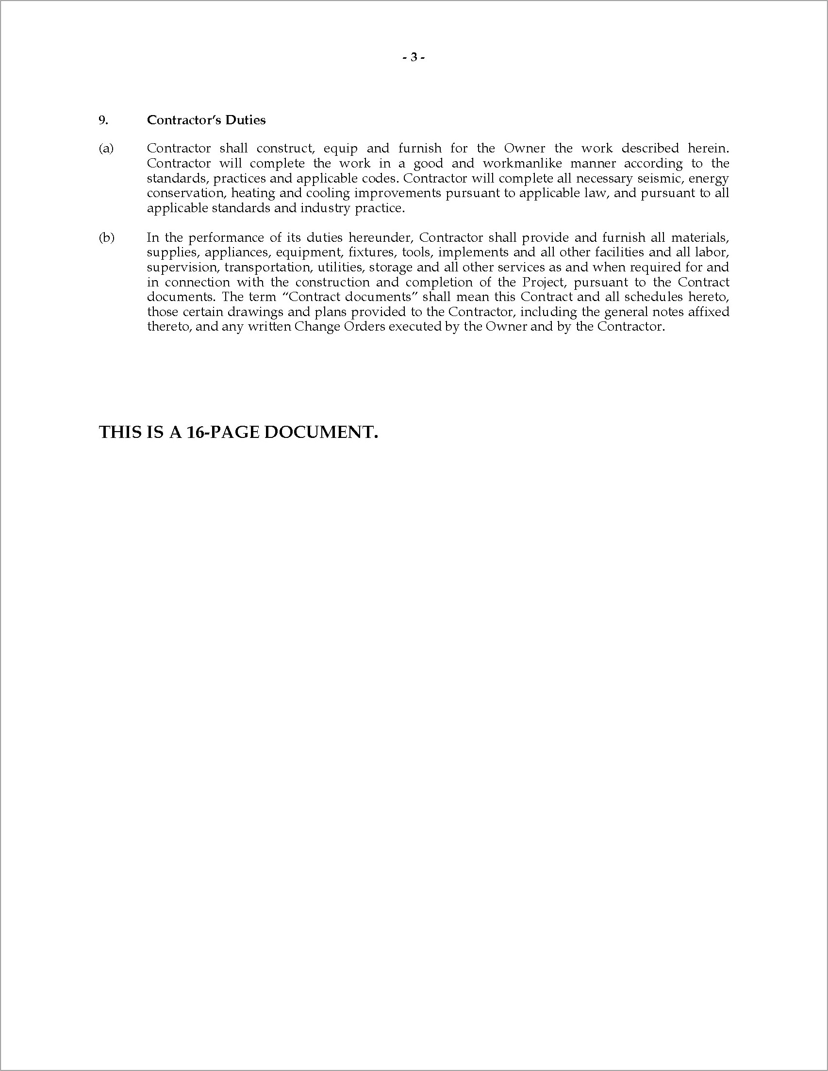 Home Improvement Contract Forms