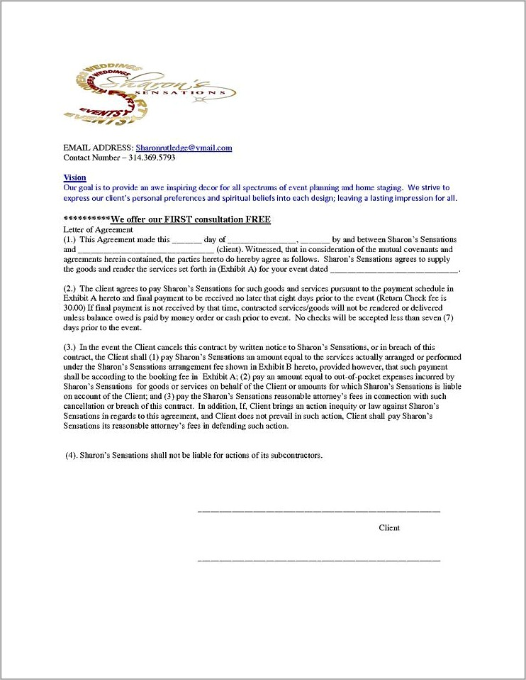 Home Staging Agreement Template