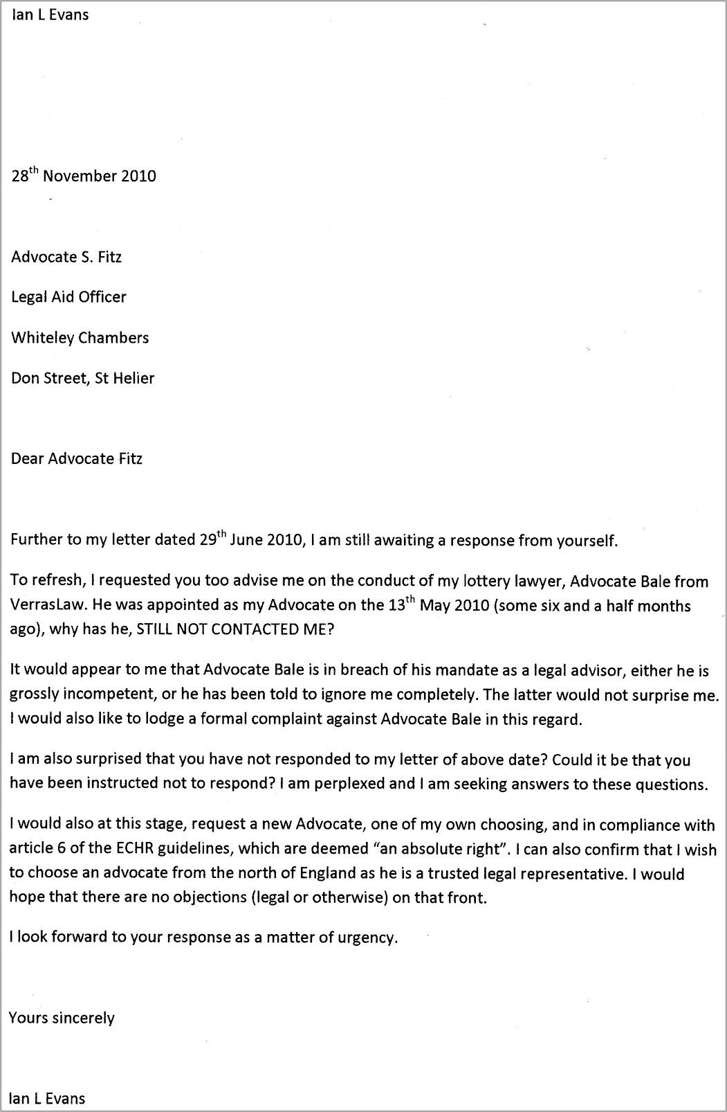 Homeowners Association Complaint Letter Example