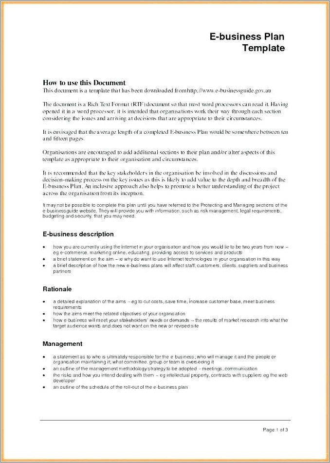 Hotel Management Business Proposal Template