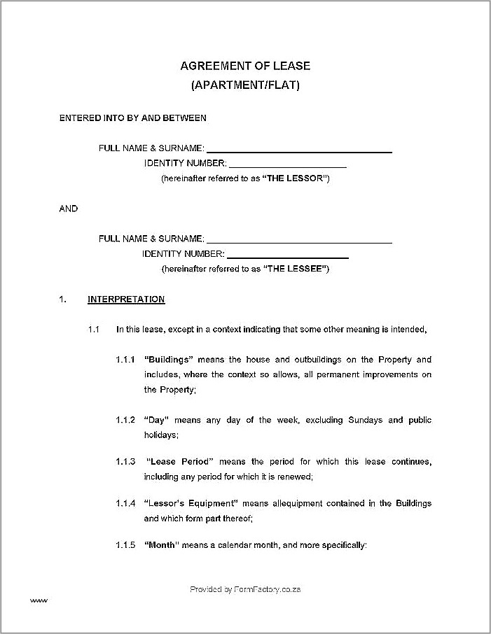 House Build Contract Template
