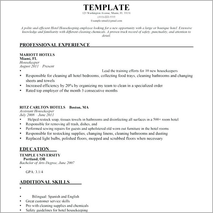 House Cleaning Contract Template Free
