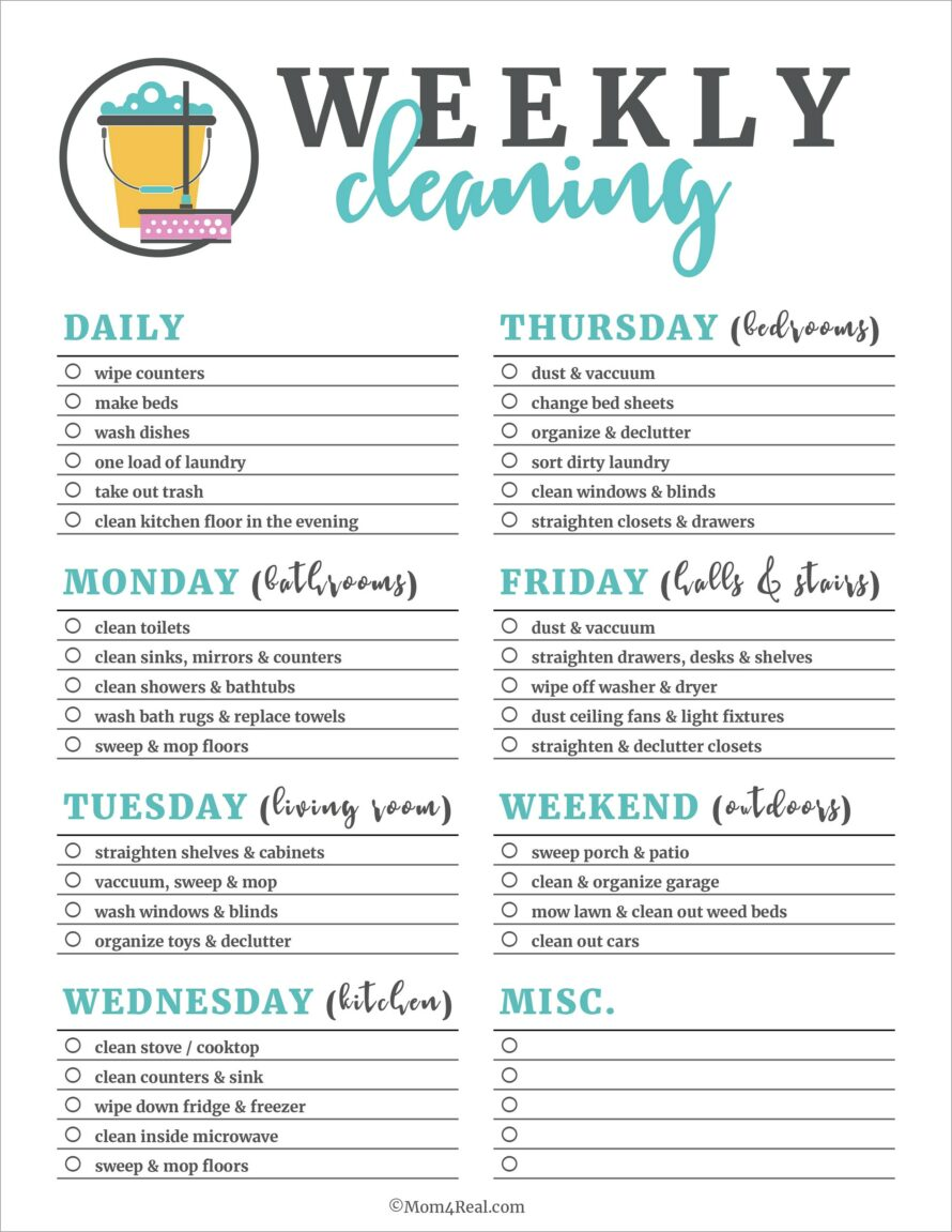 House Cleaning Template Printable