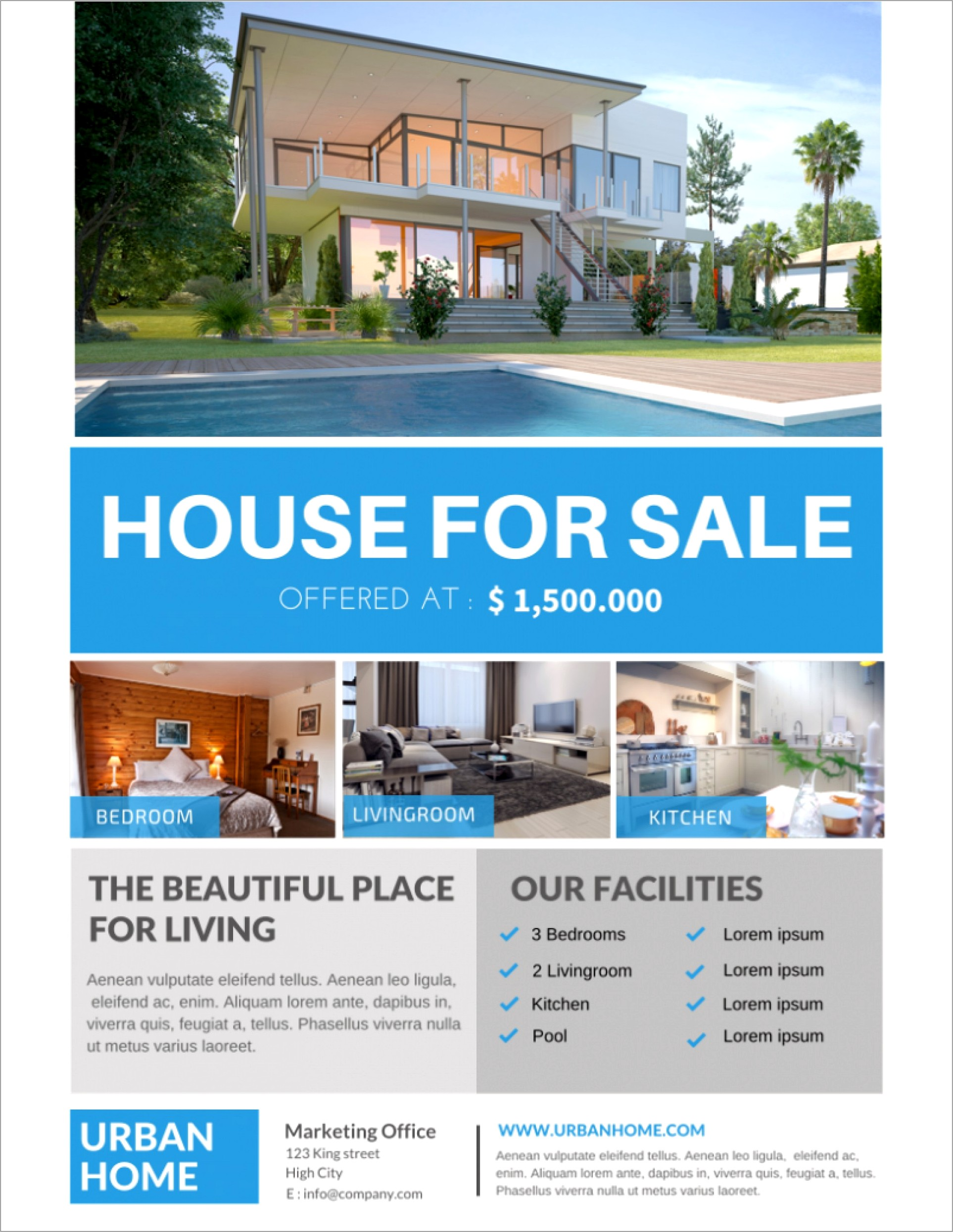 House For Sale Flyer Template Free