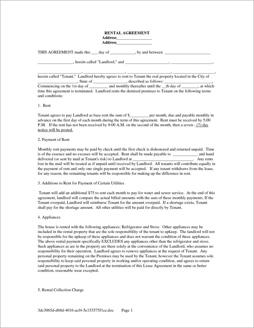House Lease Agreement Sample India