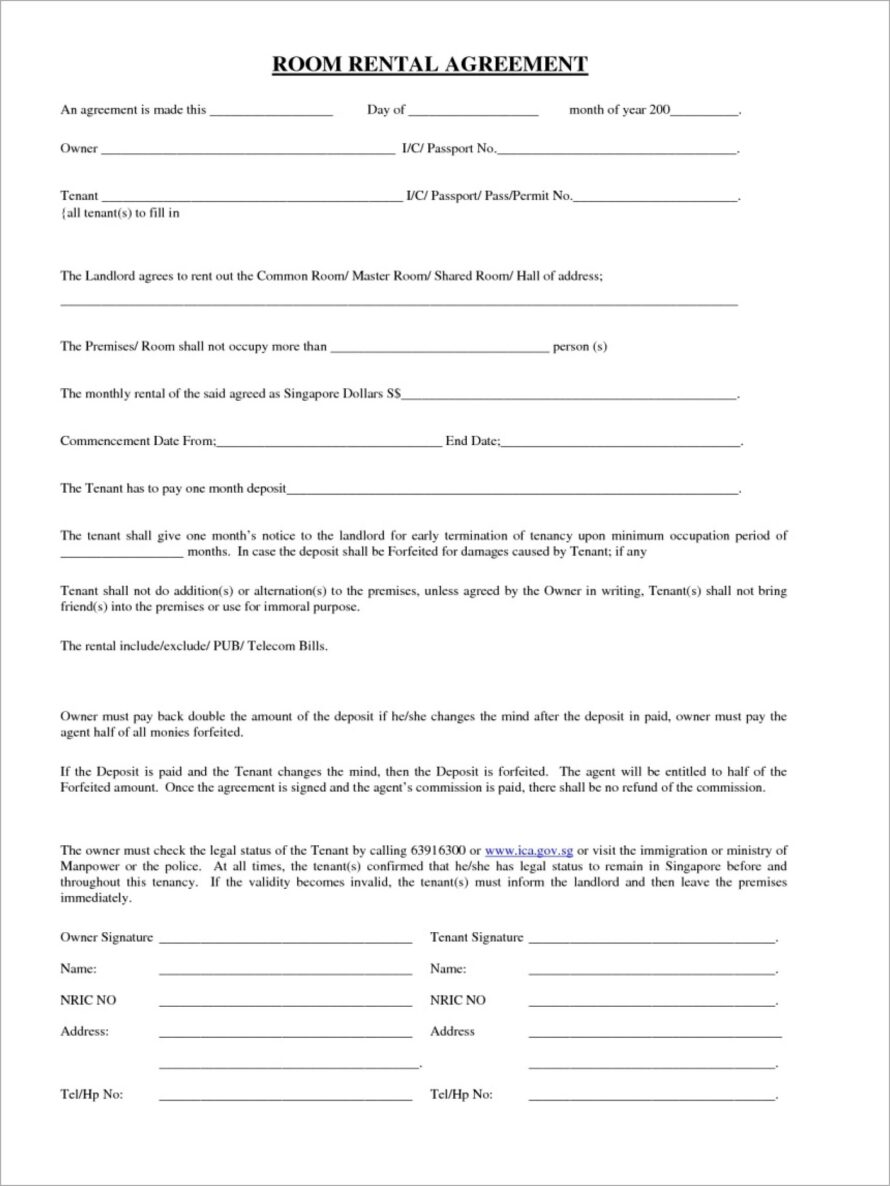 House Share Lease Agreement Template South Africa
