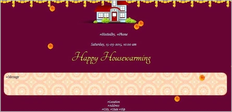 House Warming Invitation Card Online