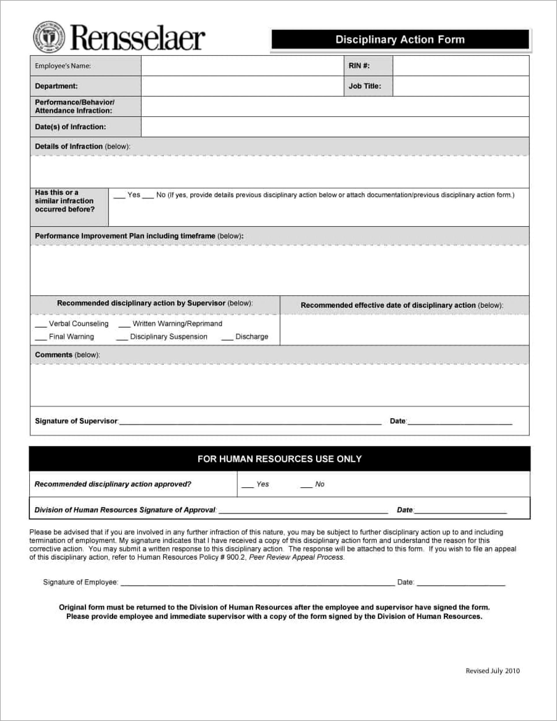 Hr Forms And Templates South Africa