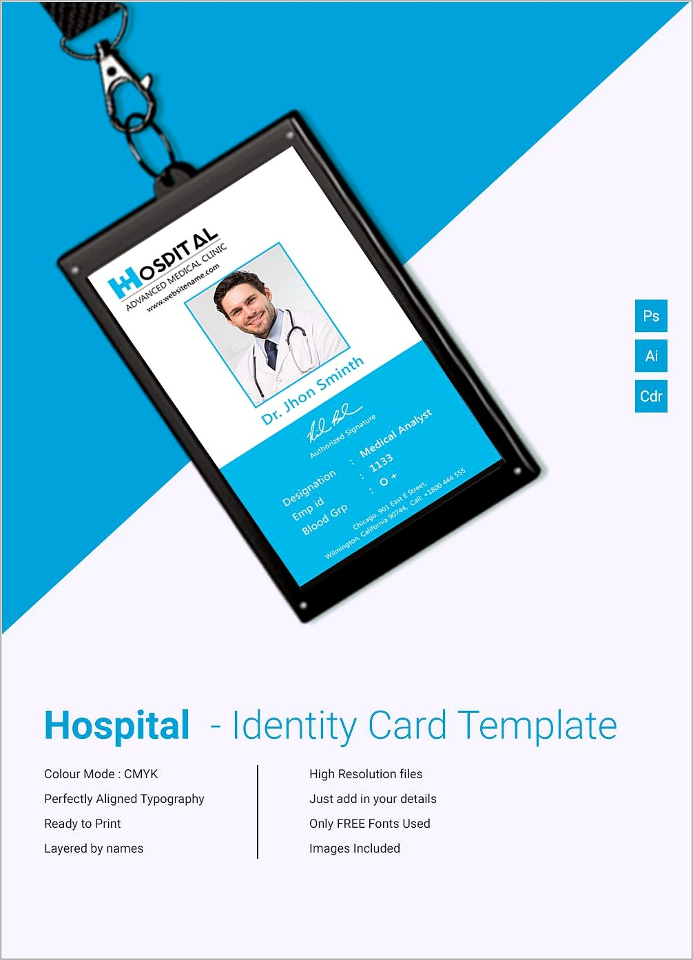 Id Card Template Free Online