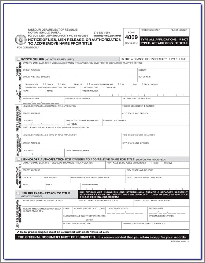 Illinois Waiver Of Lien Form