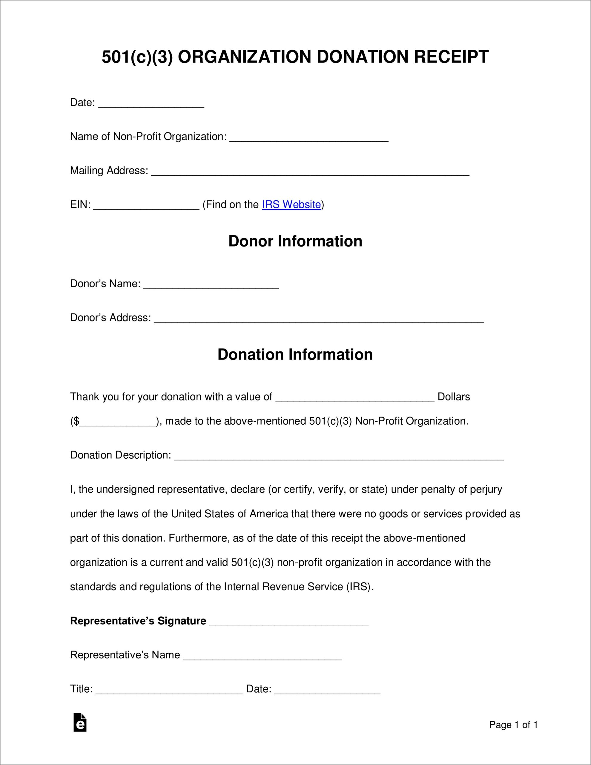 In Kind Donation Letter Example