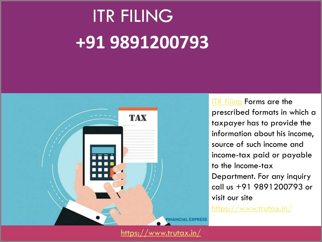 Income Tax Filing Form Itr