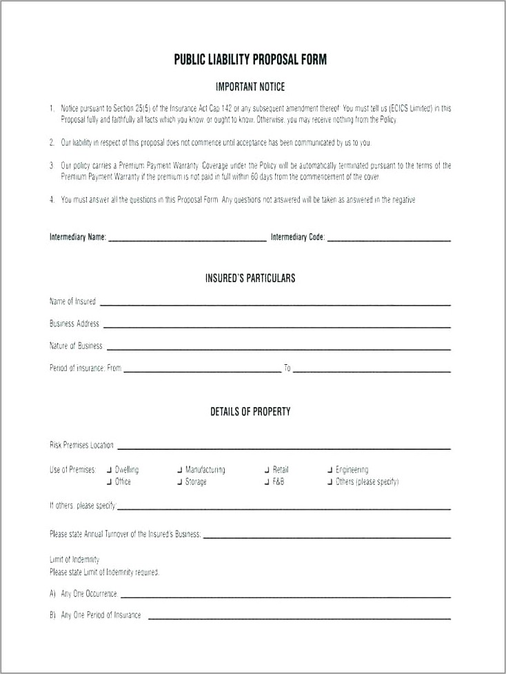 Indemnity Form Example Free