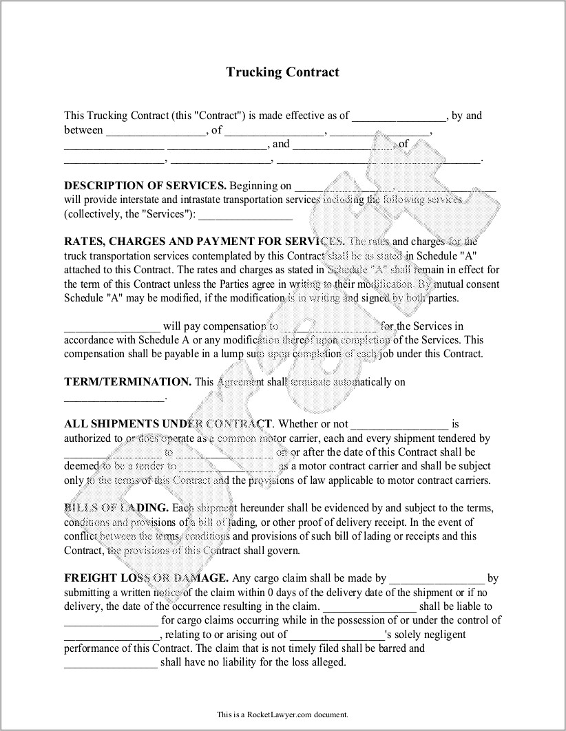 Independent Contractor Agreement Form Template