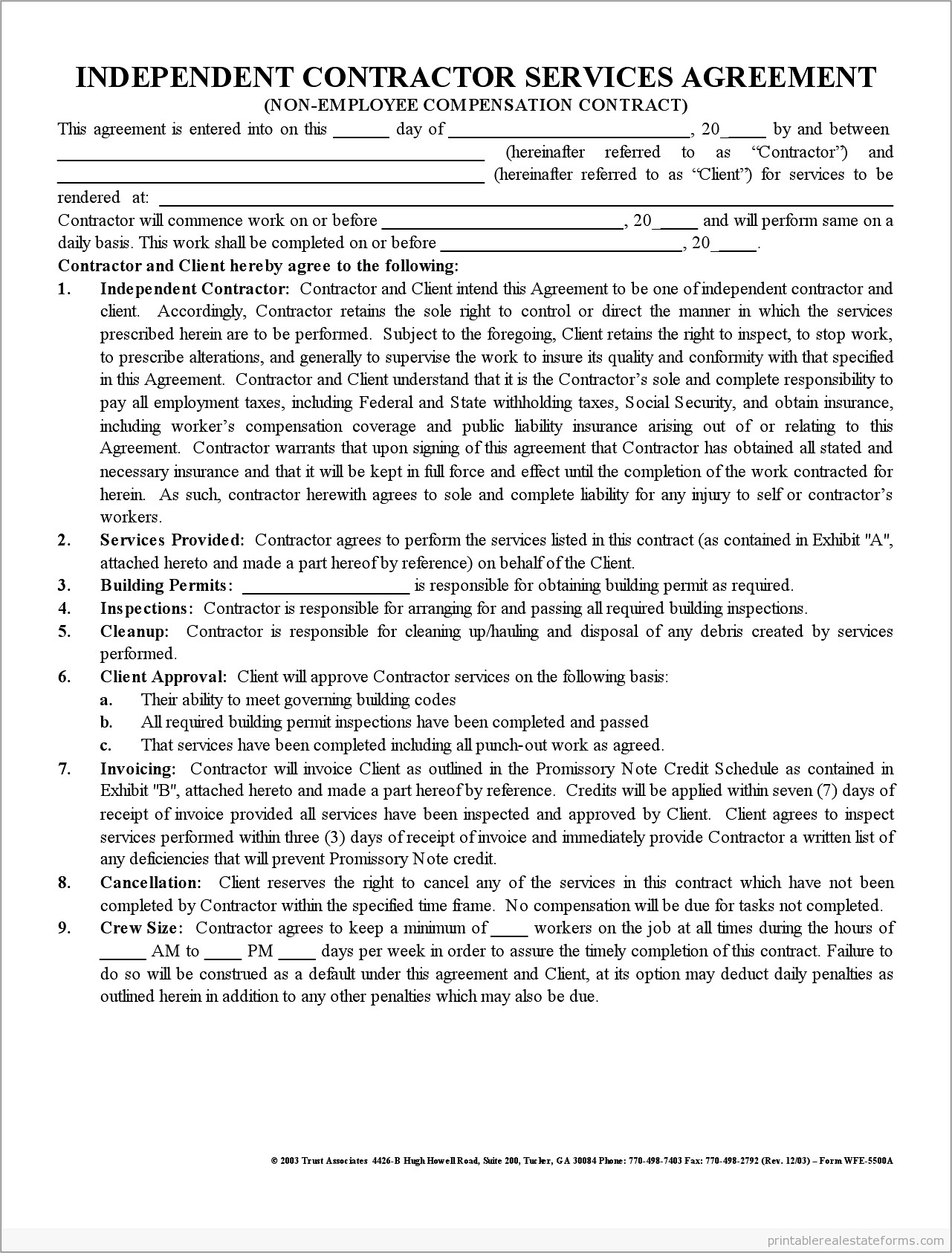 Independent Contractor Agreement Template Australia Free