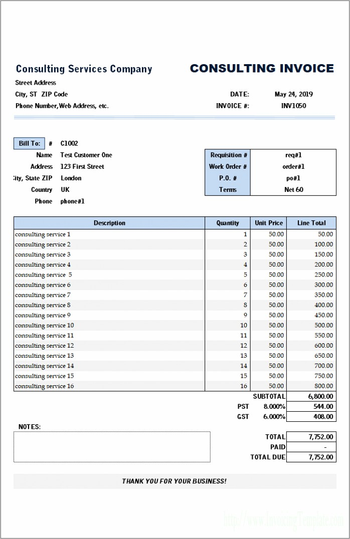 Independent Contractor Invoice Format