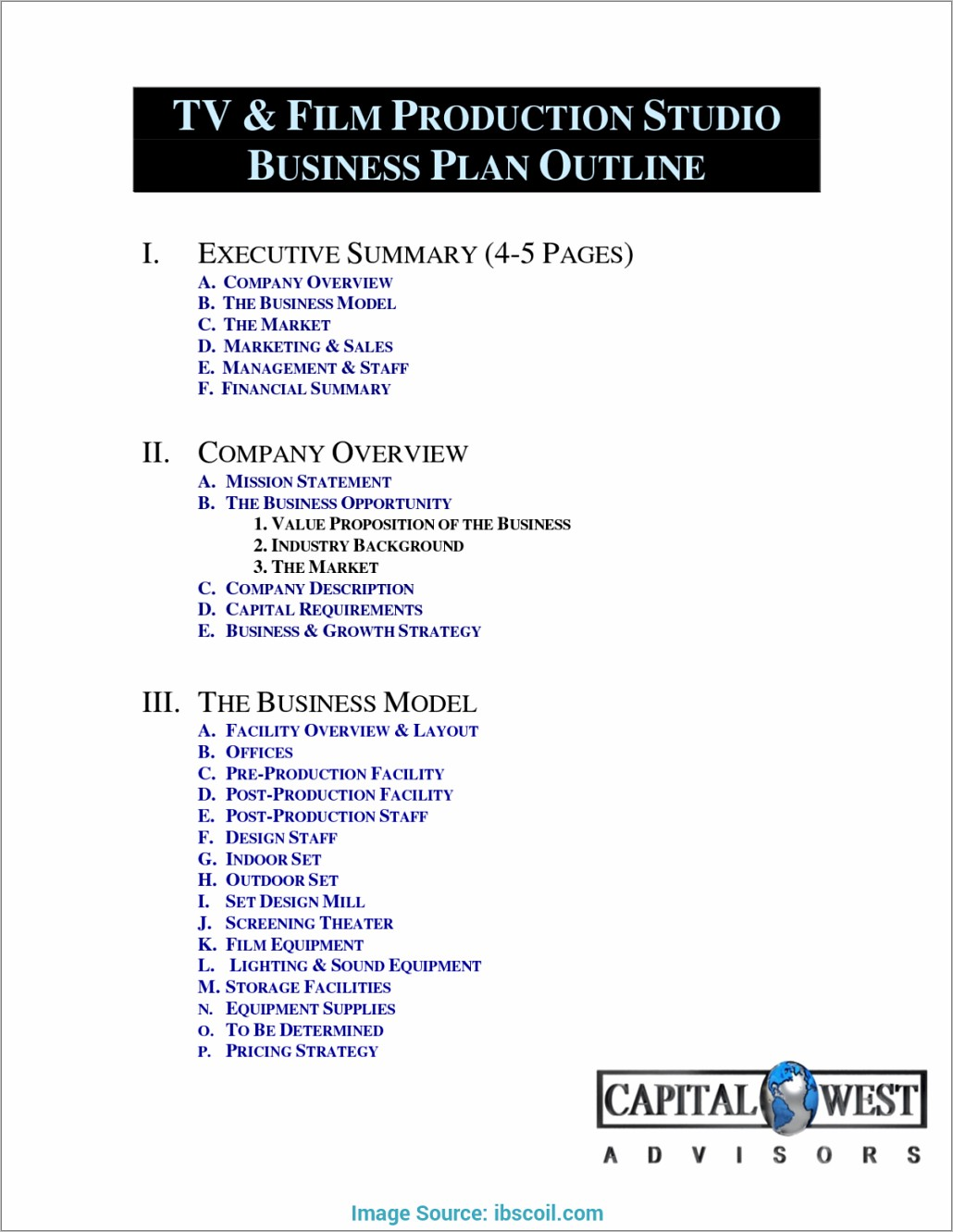 Independent Film Business Plan Template