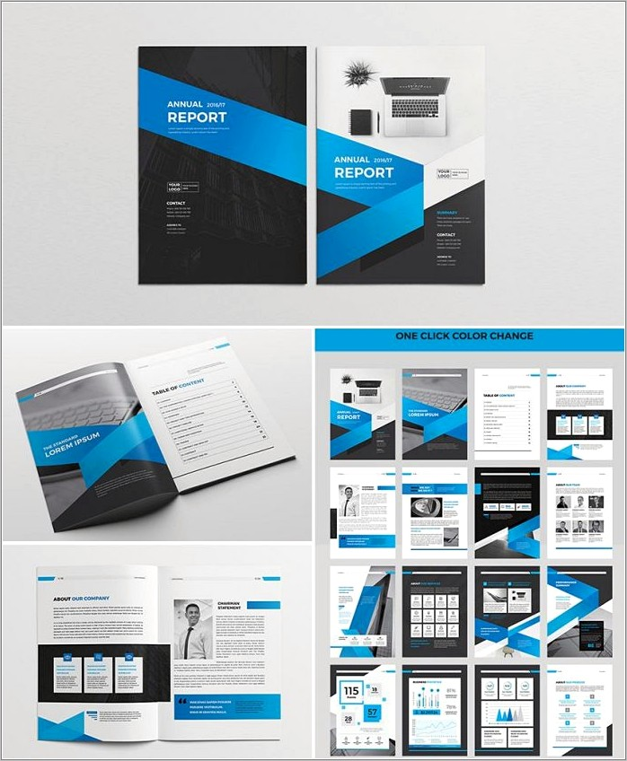 Indesign Annual Report Template Free Download