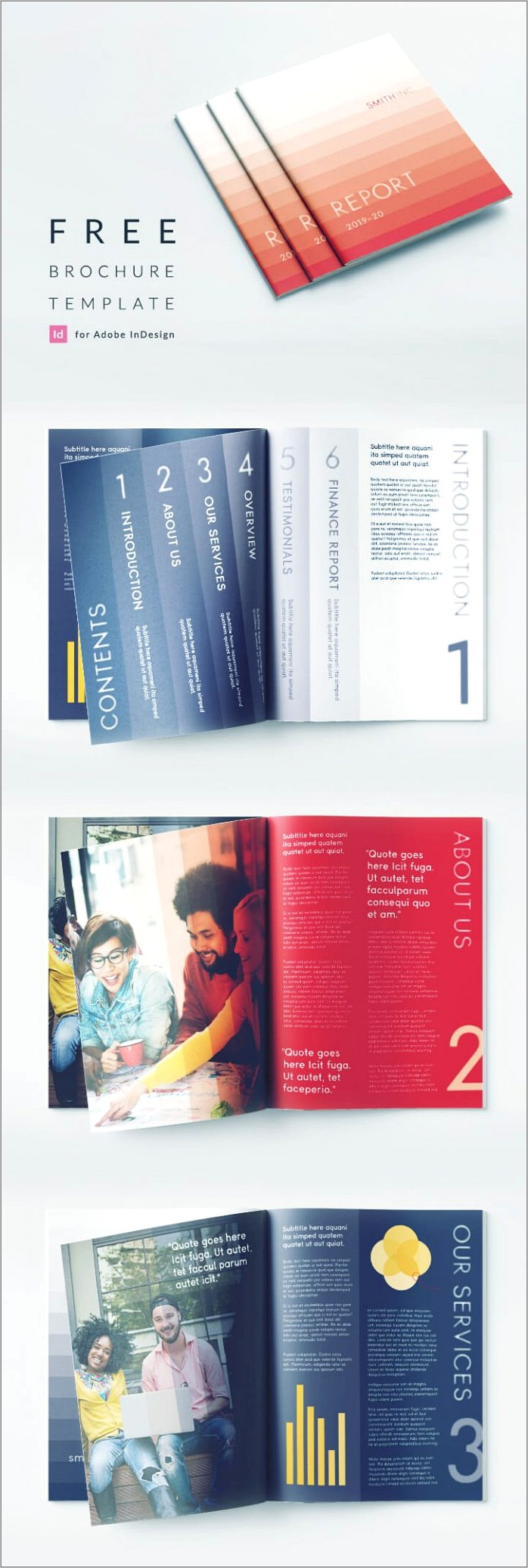 Indesign Business Brochure Templates Free