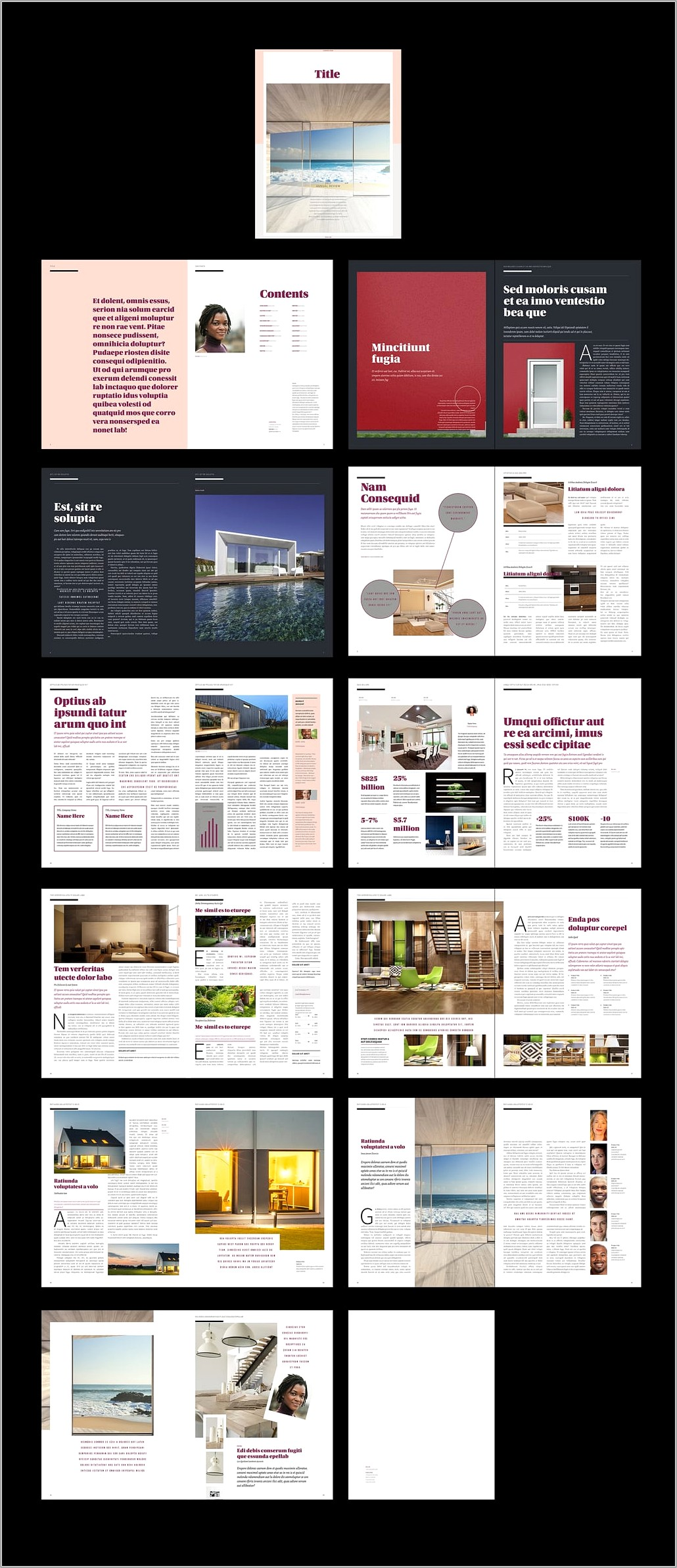 Indesign Templates Annual Report Free